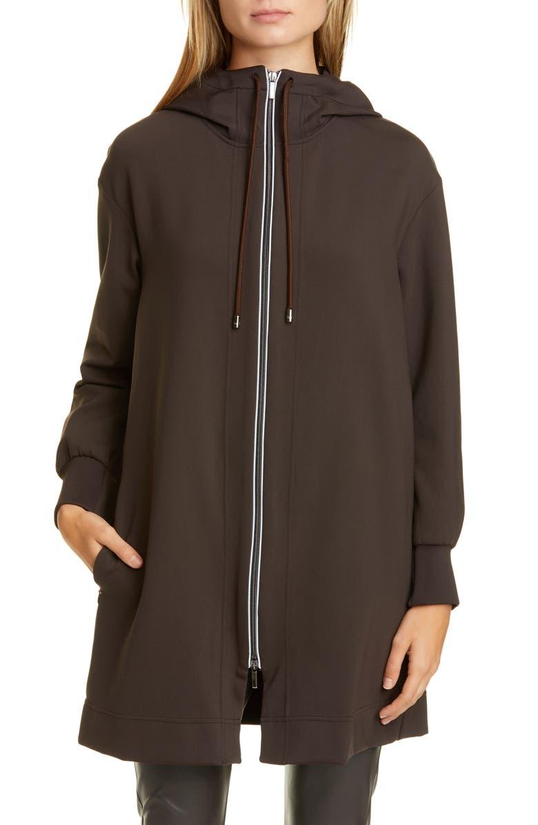MAX MARA LEISURE Lente Hooded Coat, Main, color, 200