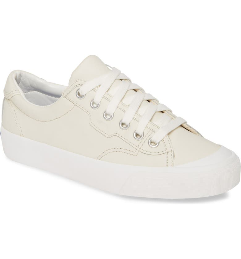 KEDS<SUP>®</SUP> Crew Kick Leather Sneaker, Main, color, WHITE LEATHER