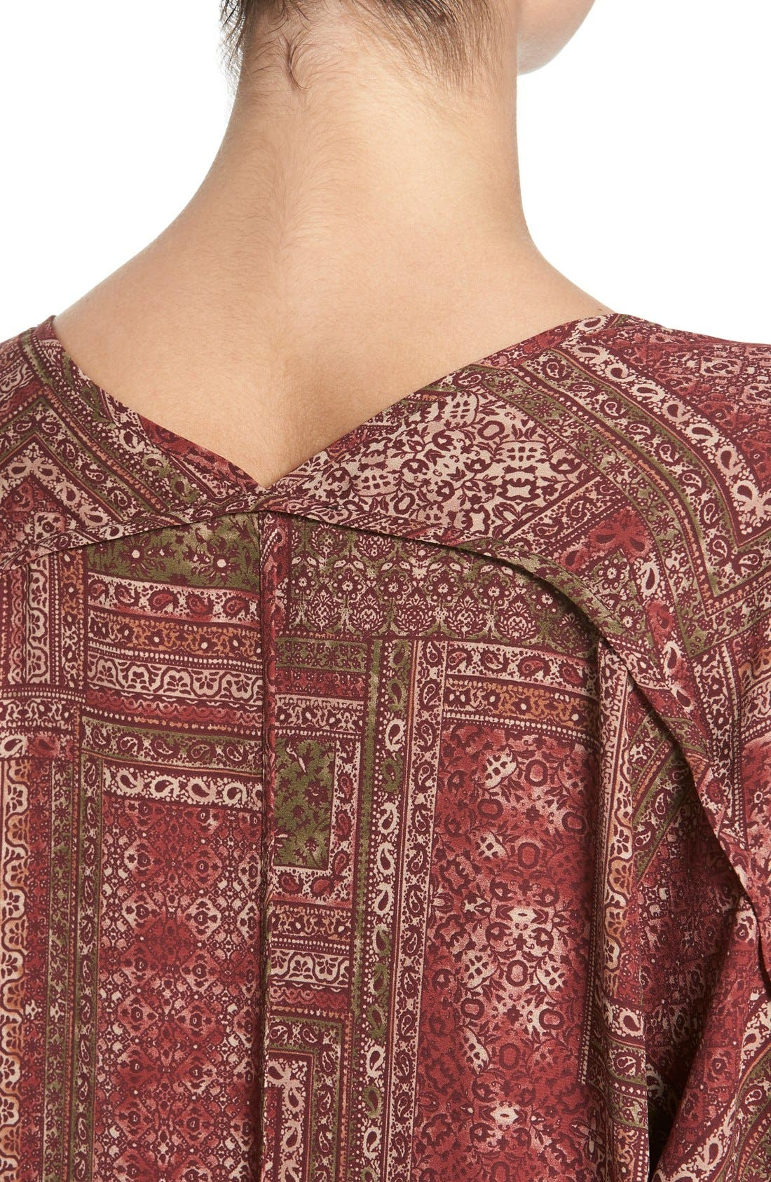 ,                             Lush Cuff Sleeve Woven Tee,                             Alternate thumbnail 201, color,                             933