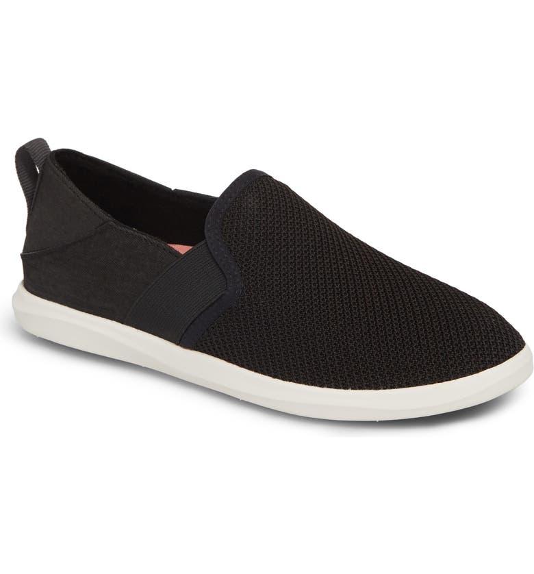 OLUKAI Haleiwa Pai Sneaker, Main, color, BLACK/ BLACK FABRIC