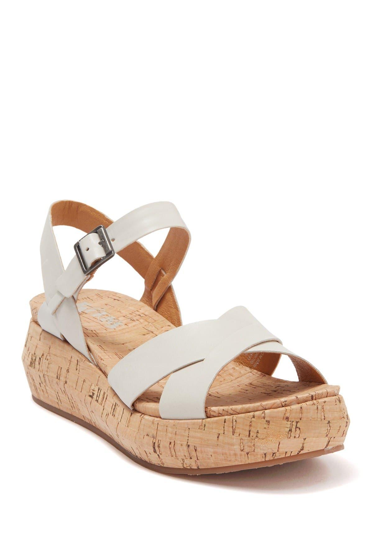 Image of KORKS Kalie Leather Cork Platform Sandal
