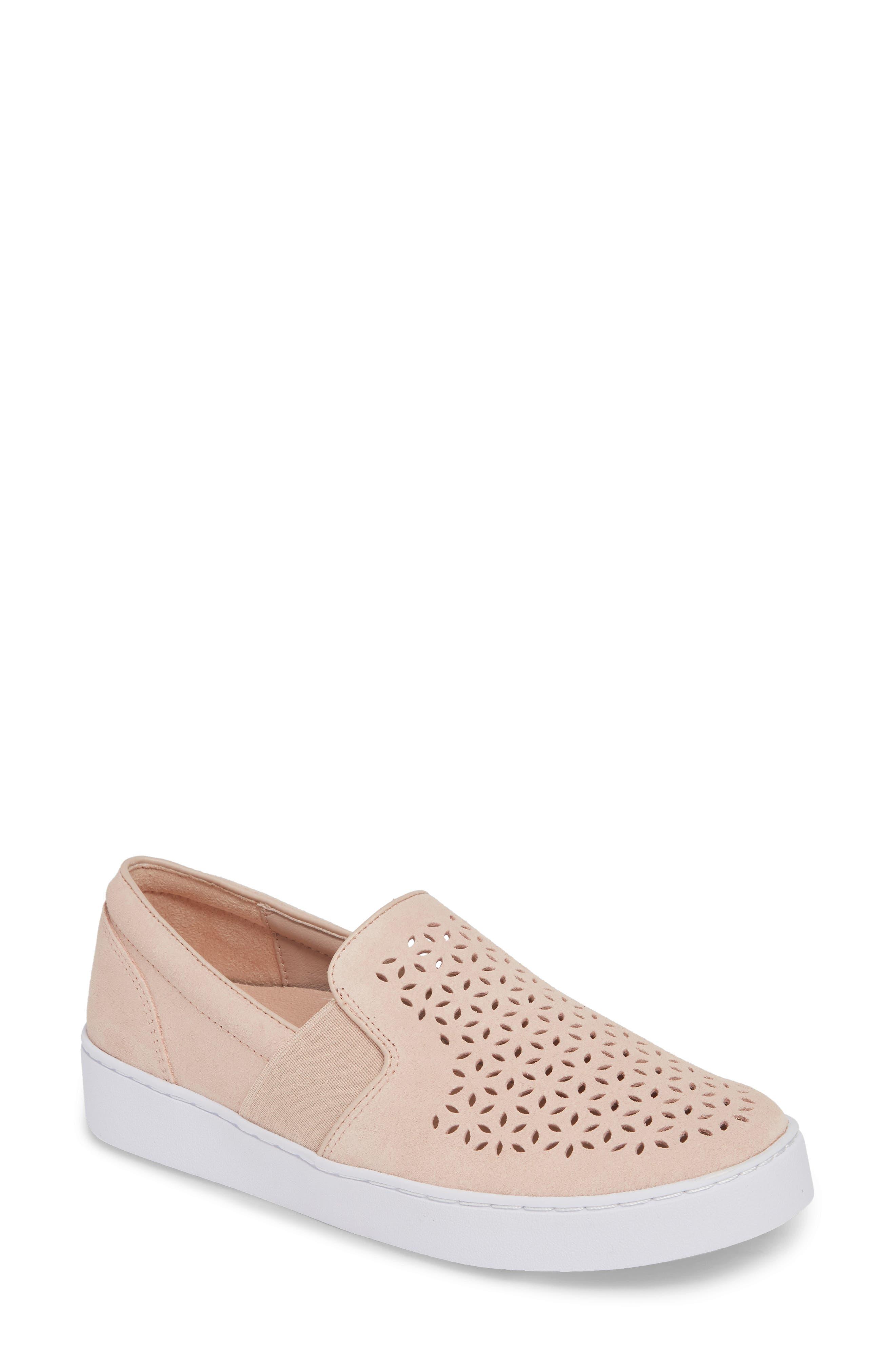 Vionic Kani Perforated Slip-On Sneaker, Pink