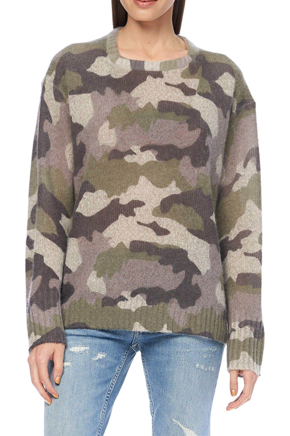 Image of 360 Cashmere Dahlia Camo Knit Sweater