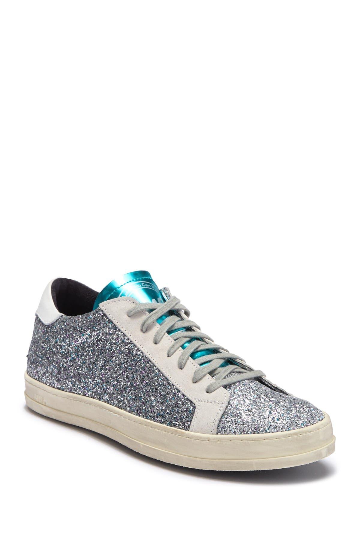 P448   John Glitter Leather Sneaker
