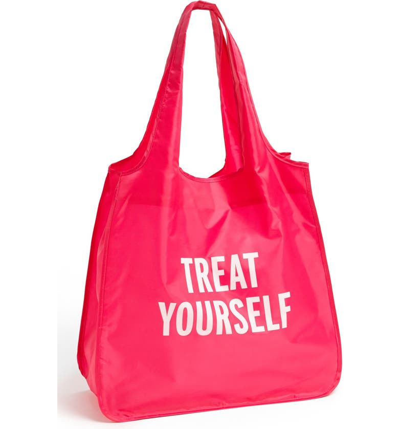 KATE SPADE NEW YORK 'treat yourself' reusable shopping tote, Main, color, 650