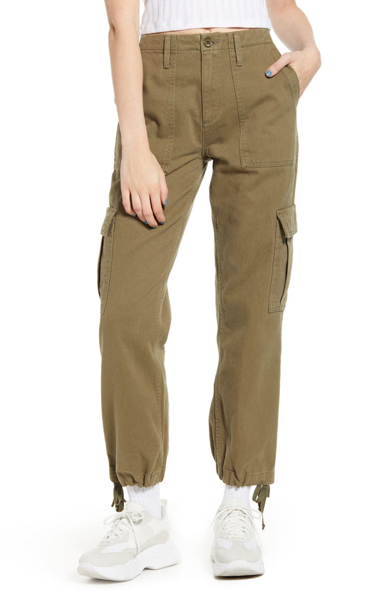 BDG URBAN OUTFITTERS Authentic Twill Cargo Pants, Main, color, OLIVE