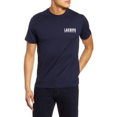 Lacoste 3D Logo T-Shirt, (4xl) - Blue