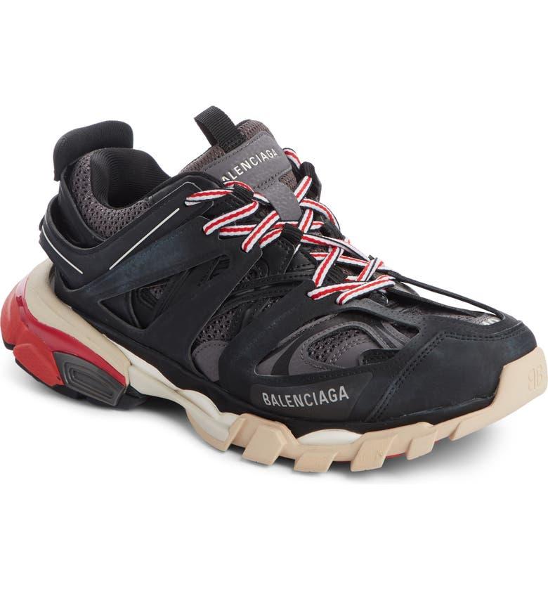 BALENCIAGA Track Low Top Sneaker, Main, color, BLACK/ GREY