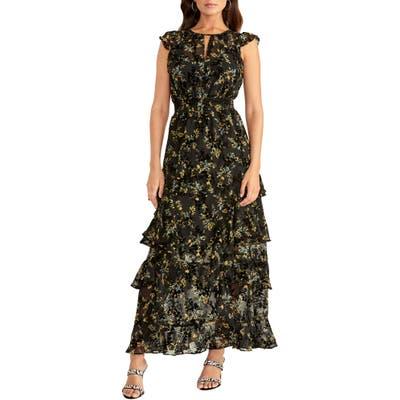 Rachel Rachel Roy Issa Floral Burnout Maxi Dress, Black