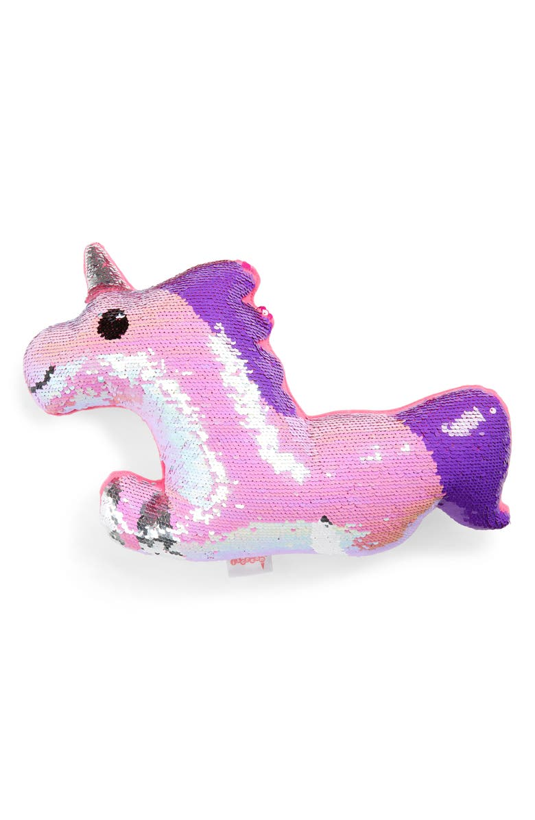 ISCREAM Magican Unicorn Flip Sequin Pillow, Main, color, PINK