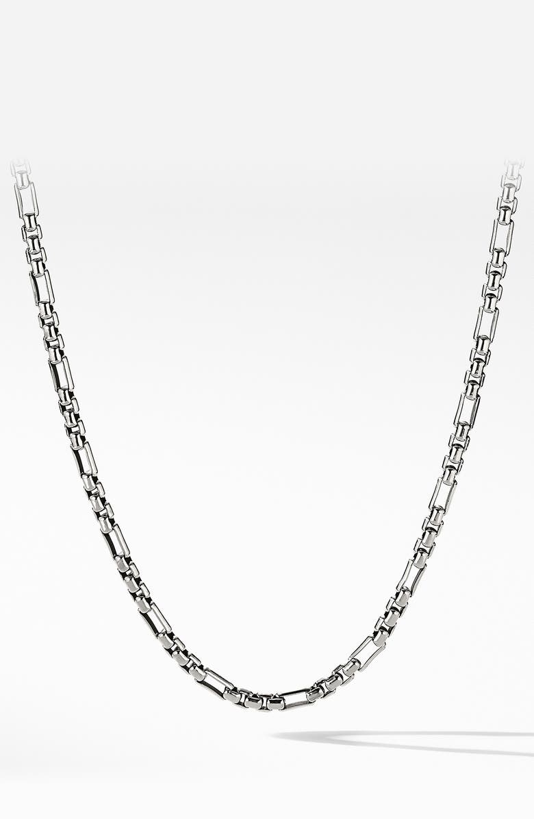 DAVID YURMAN Open Station Box Chain, Main, color, SILVER
