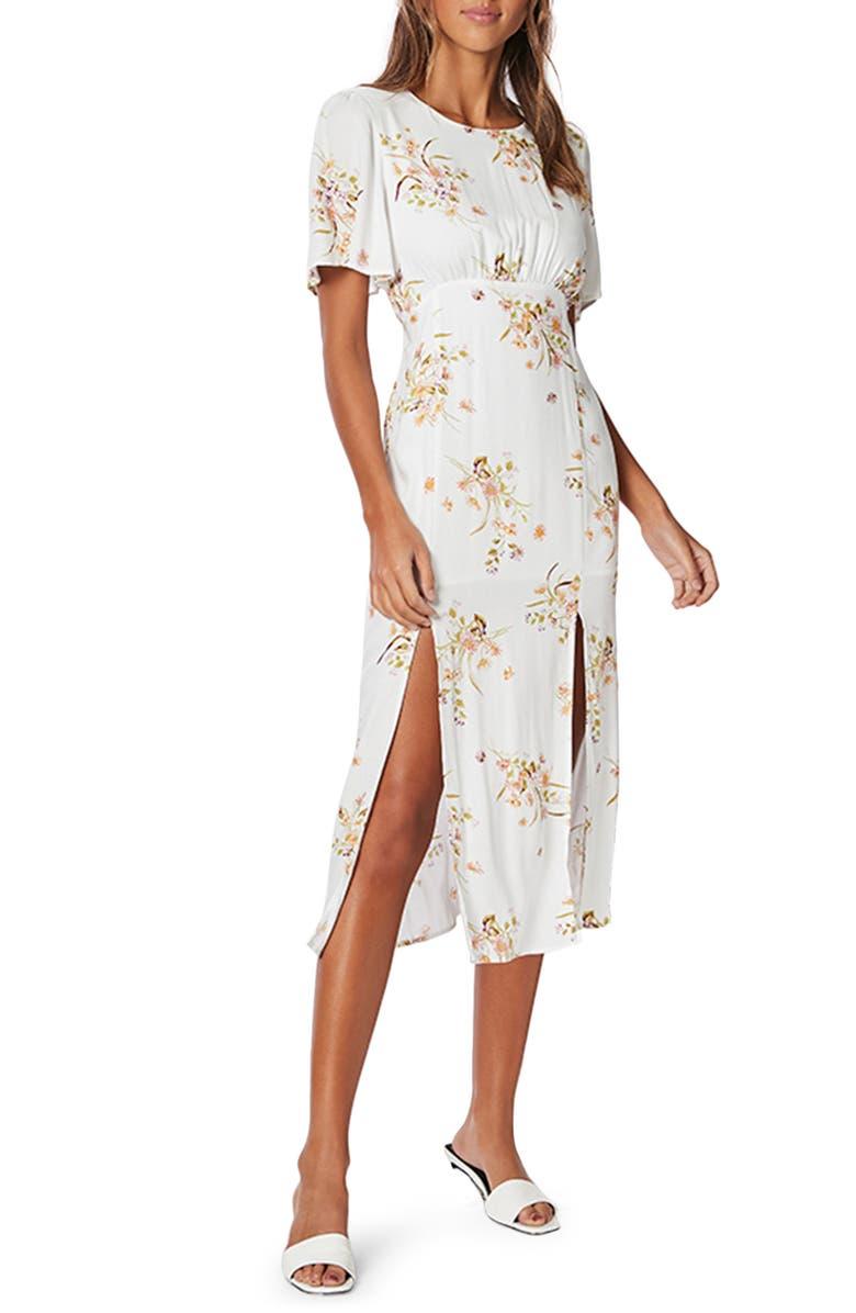 MINKPINK Floral Beauty Midi Dress, Main, color, MULTI