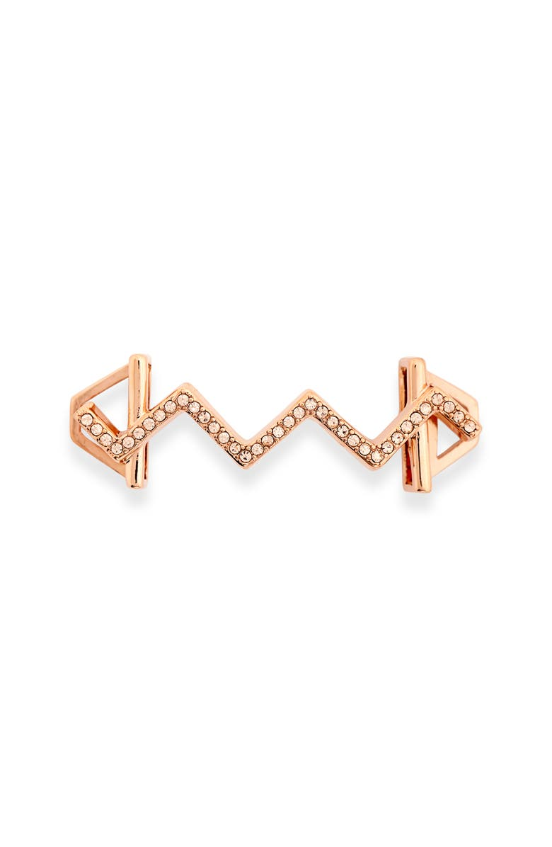 KEEP COLLECTIVE Pavé Zigzag Charm, Main, color, ROSE GOLD
