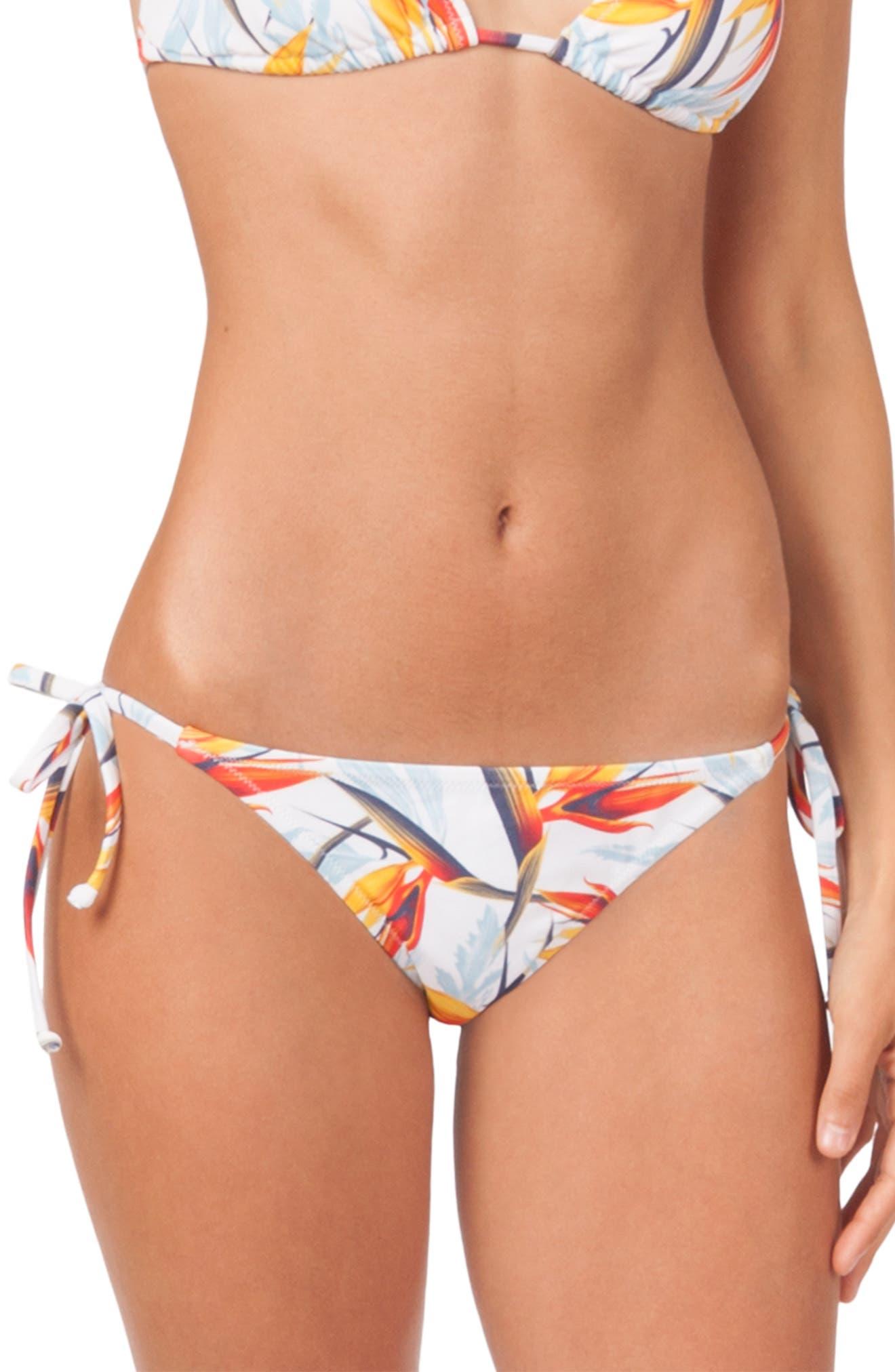 Lively The String Bikini Print Swim Bottoms, Blue
