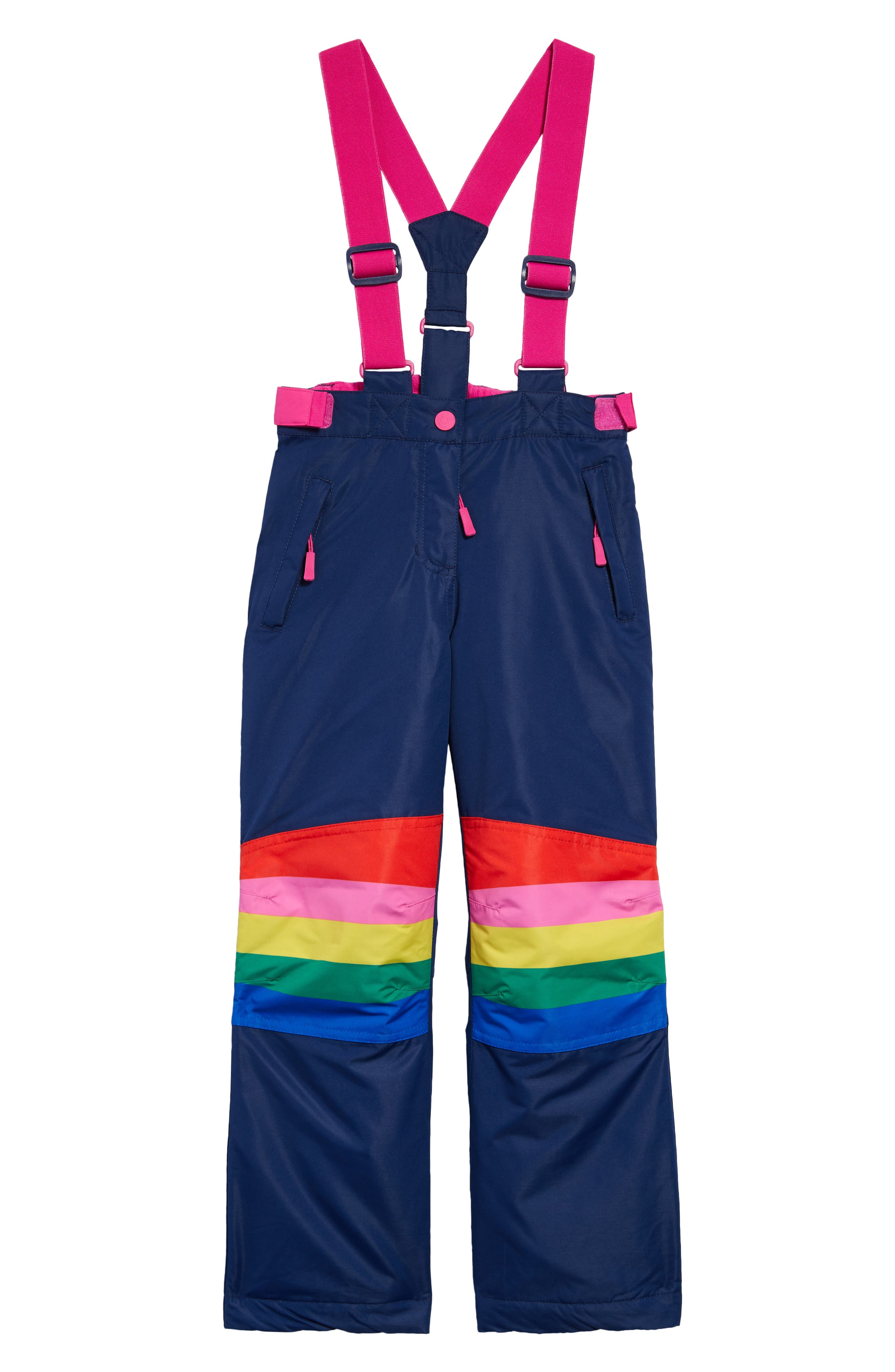 She\\\'ll love layering on snow days with these waterproof, insulated pants equipped with adjustable straps and cheery rainbows. Style Name: Mini Boden Kids\\\' All Weather Waterproof Suspender Pants (Toddler, Little Girl & Big Girl). Style Number: 6103072. Available in stores.