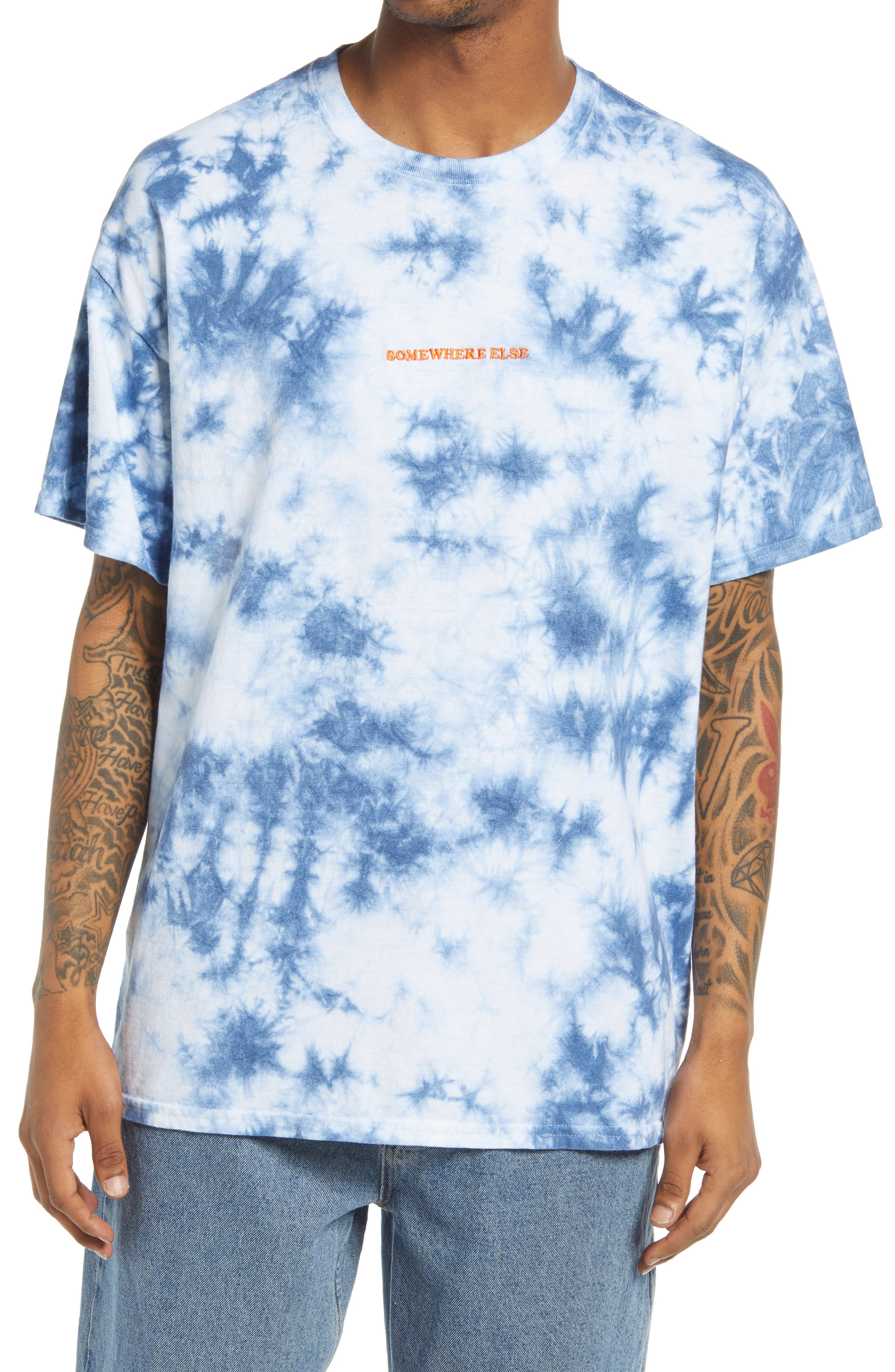 Tie Dye Embroidered T-Shirt