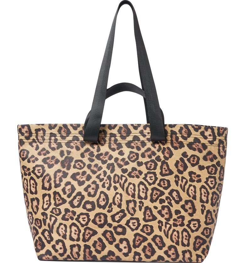 URBAN ORIGINALS Mad for You Vegan Leather Tote, Main, color, LEOPARD