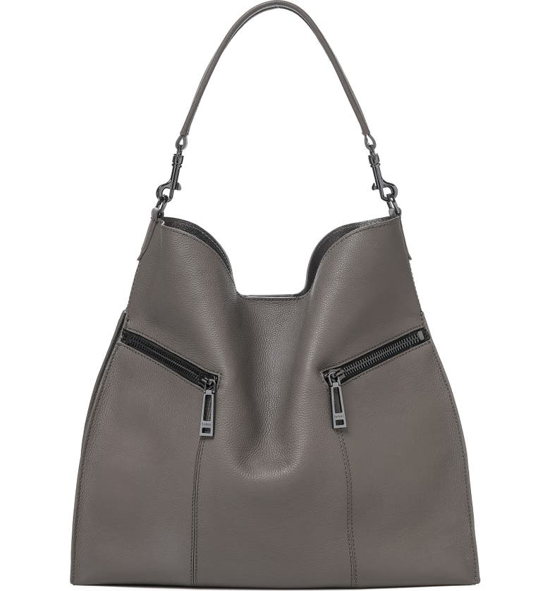 BOTKIER Trigger Pebbled Leather Hobo, Main, color, WINTER GREY