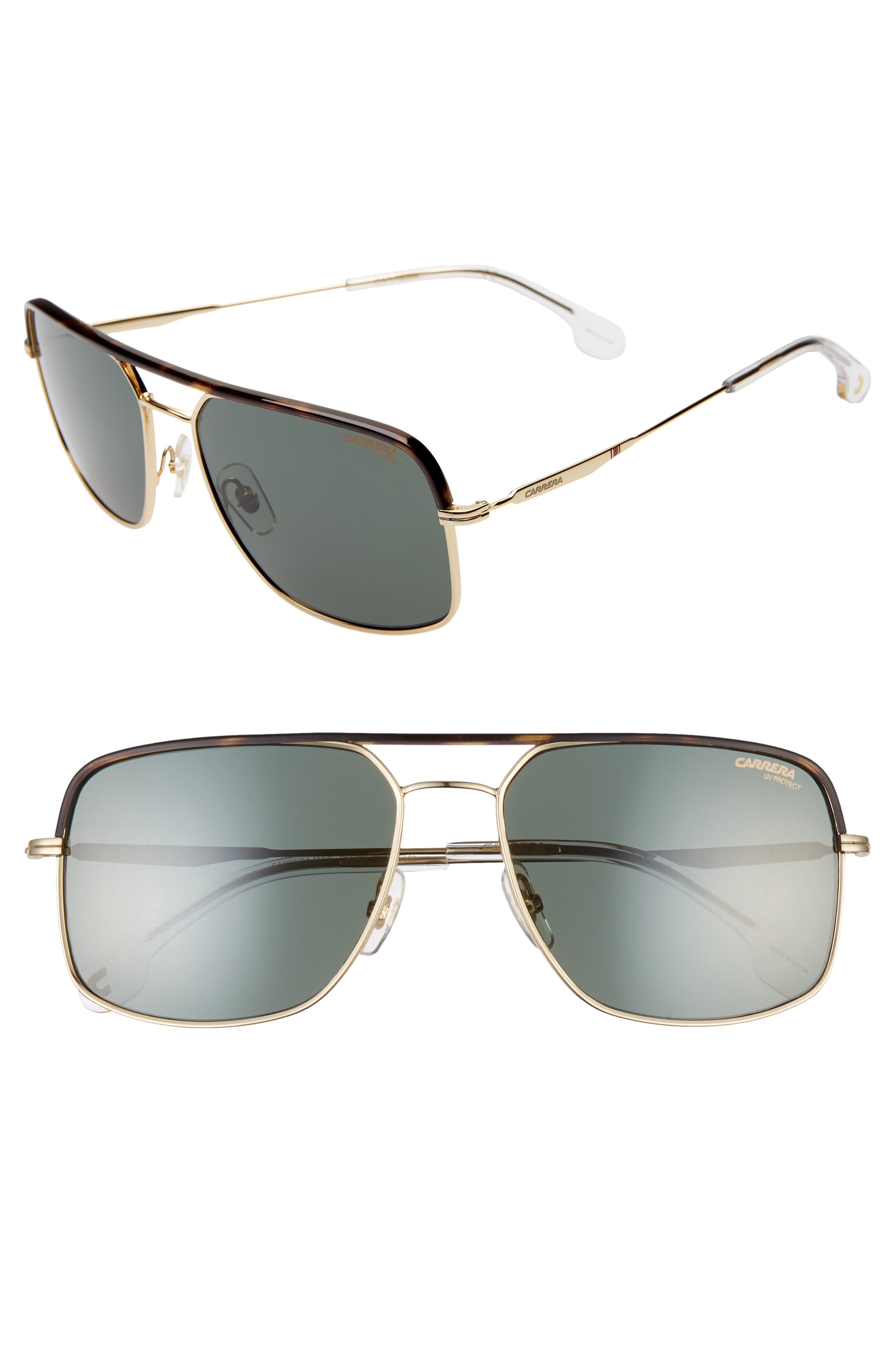 Carrera Eyewear 60Mm Gradient Aviator Sunglasses - Gold Green