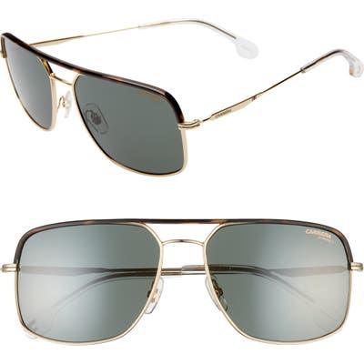 Carrera Eyewear 60Mm Gradient Aviator Sunglasses - Gold Green