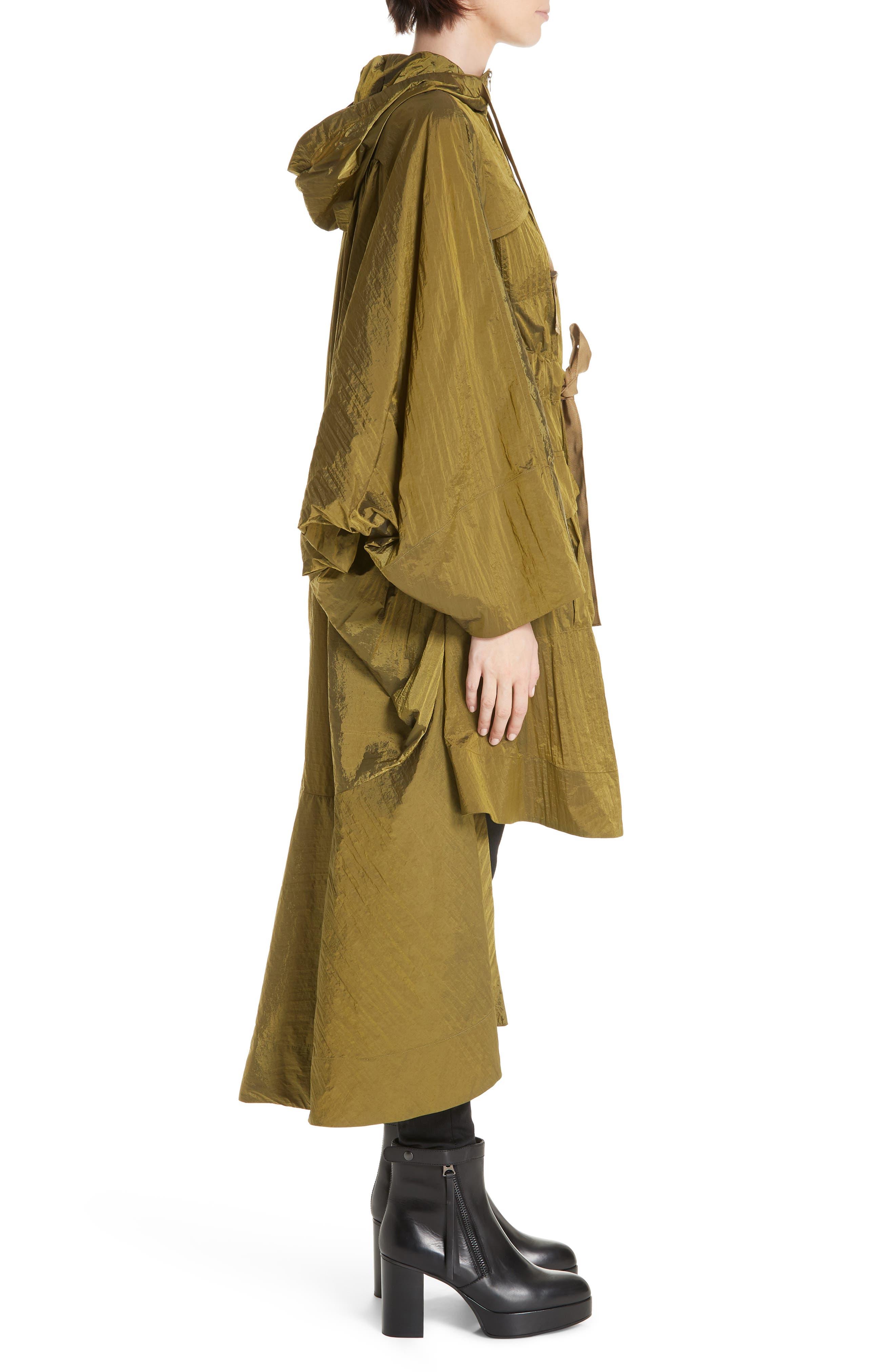 ,                             Brooke Drawstring Coat,                             Alternate thumbnail 3, color,                             LIGHTWEIGHT KHAKI NYLON