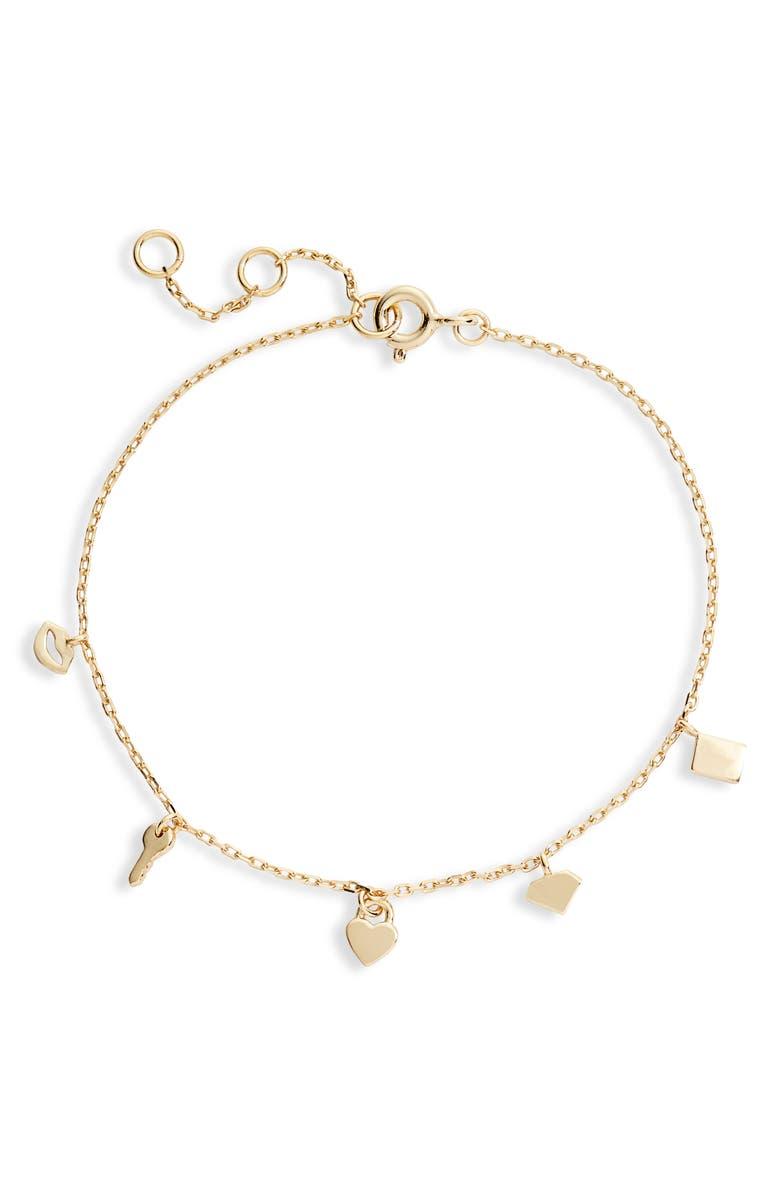 ADINA'S JEWELS Multi Charm Bracelet, Main, color, 710