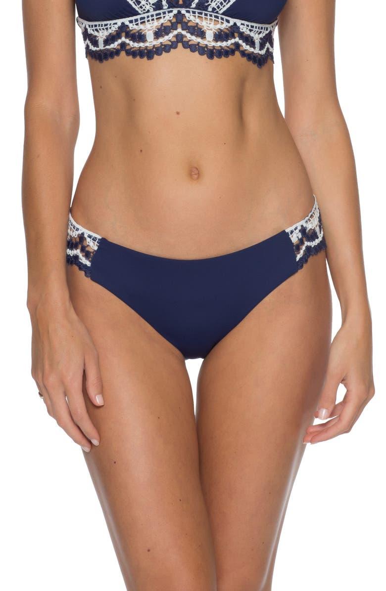 BECCA Delilah American Bikini Bottoms, Main, color, NAVY