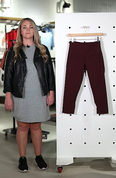 'Hatha' High Waist Crop Leggings, sales video thumbnail