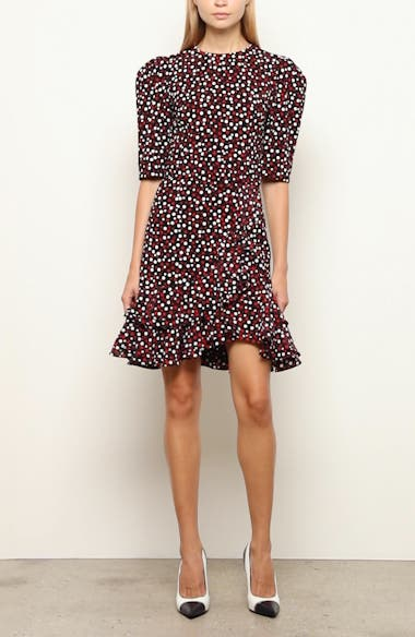 Michael Kors Tiered Belted Scattered Dot Dress, video thumbnail