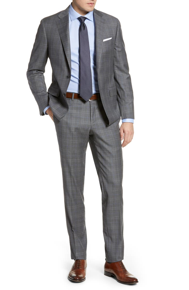 HICKEY FREEMAN Classic Fit Plaid Wool Suit, Main, color, MULTI
