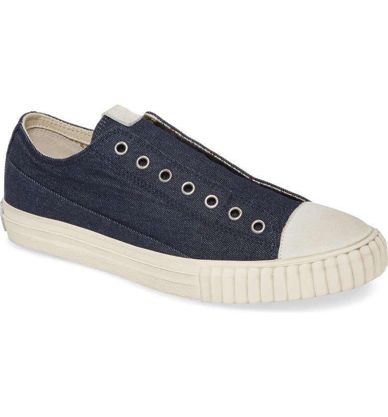 JOHN VARVATOS STAR USA Denim Sneaker, Main, color, INDIGO