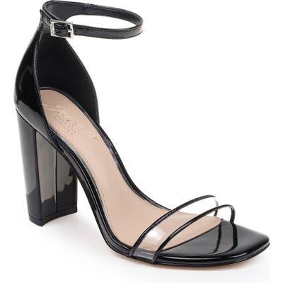 Jewel Badgley Mischka Keshia Ii Clear Ankle Strap Sandal, Black