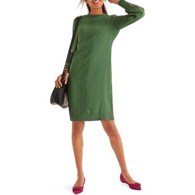 Boden Miriam Long Sleeve Shift Dress, Green