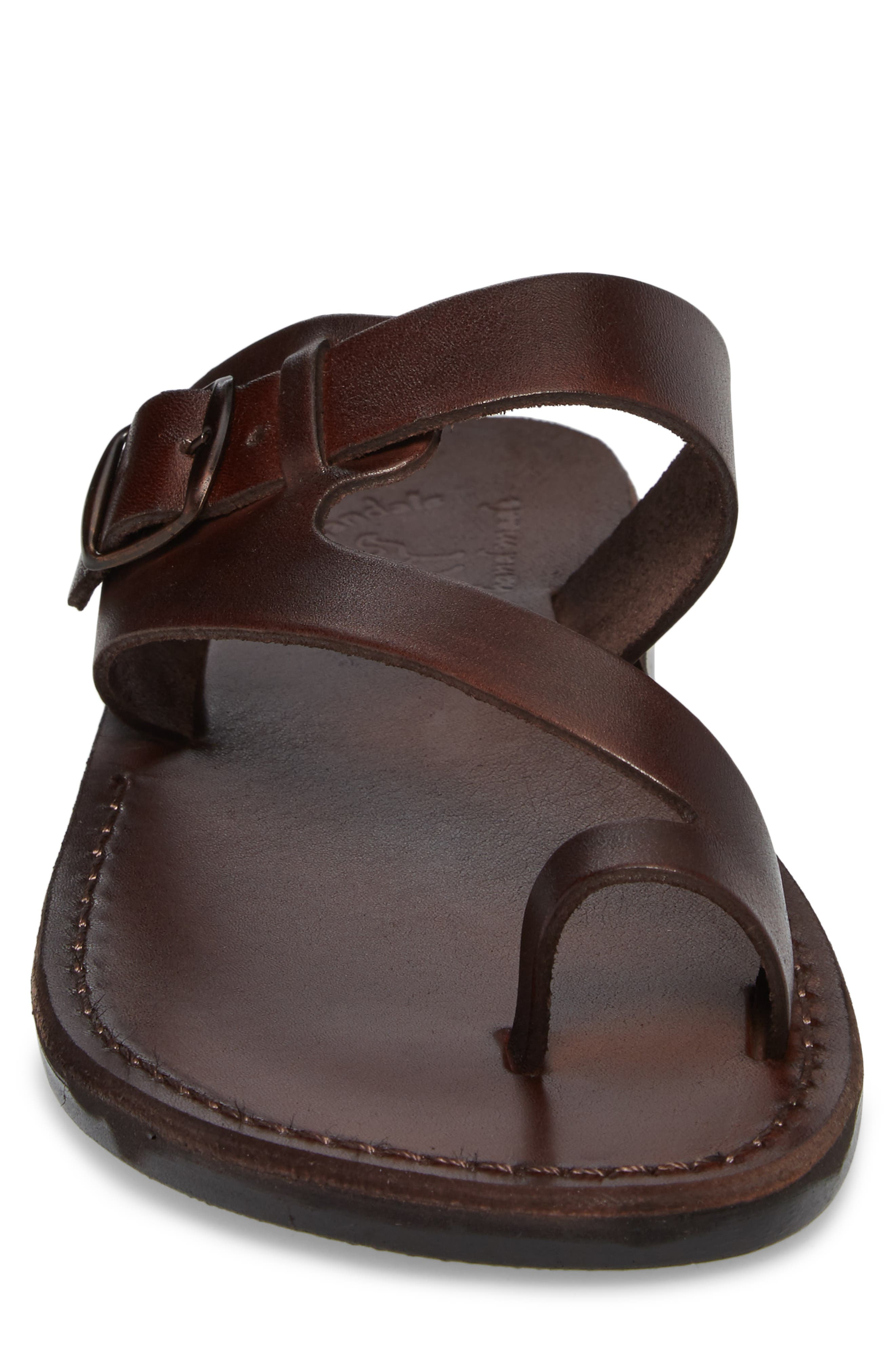 ,                             Abner Toe Loop Sandal,                             Alternate thumbnail 4, color,                             BROWN LEATHER