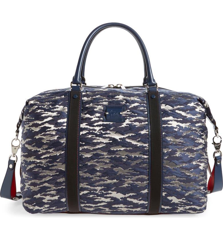CHRISTIAN LOUBOUTIN Parislisboa Jacquard Duffle Bag, Main, color, BAVAROIS