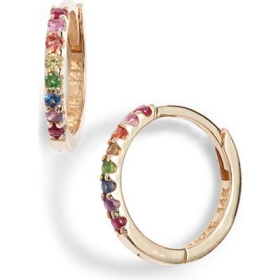 Anzie Cleo Rainbow Huggie Hoop Earrings