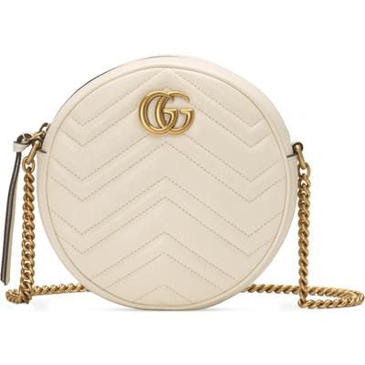 Gucci Mini Leather Canteen Shoulder Bag - White