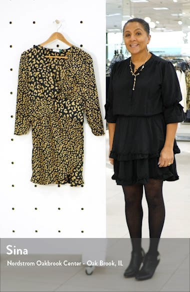 Lilly Leopard Print Silk Minidress, sales video thumbnail