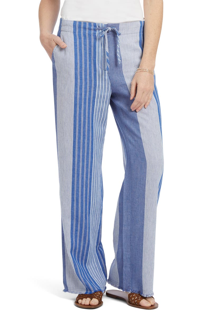 NIC+ZOE Fiji Linen Pants, Main, color, MULTI