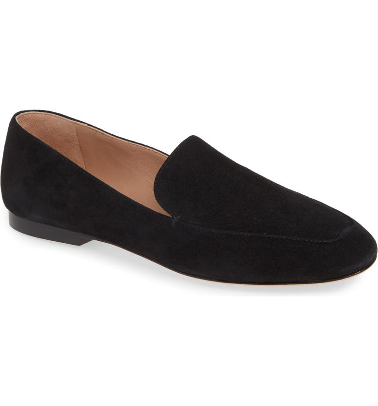 NORDSTROM SIGNATURE Aurora Flat, Main, color, BLACK SUEDE
