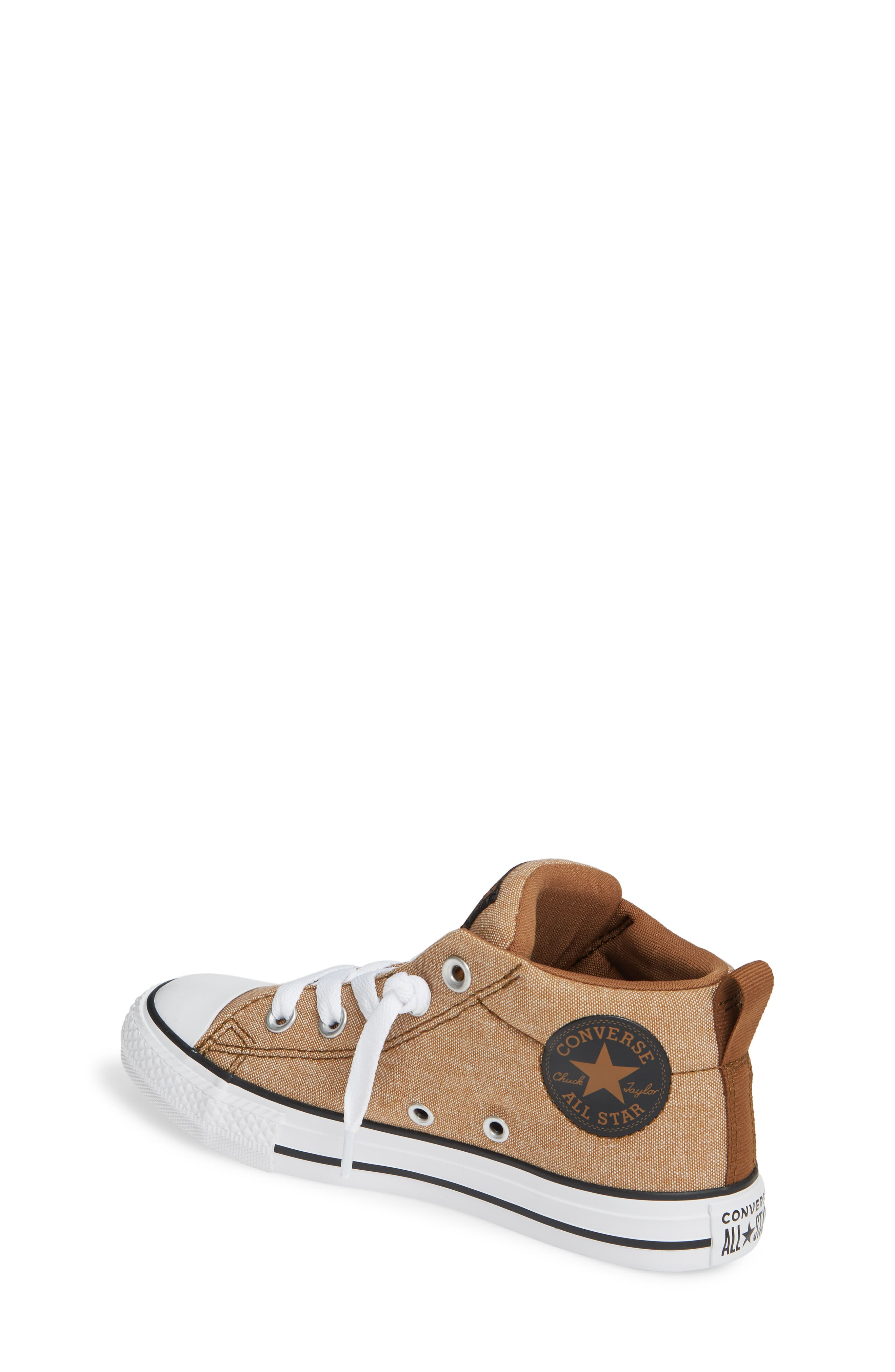 ,                             Chuck Taylor<sup>®</sup> All Star<sup>®</sup> Street Mid Top Sneaker,                             Alternate thumbnail 2, color,                             ALE BROWN/ BLACK/ WHITE