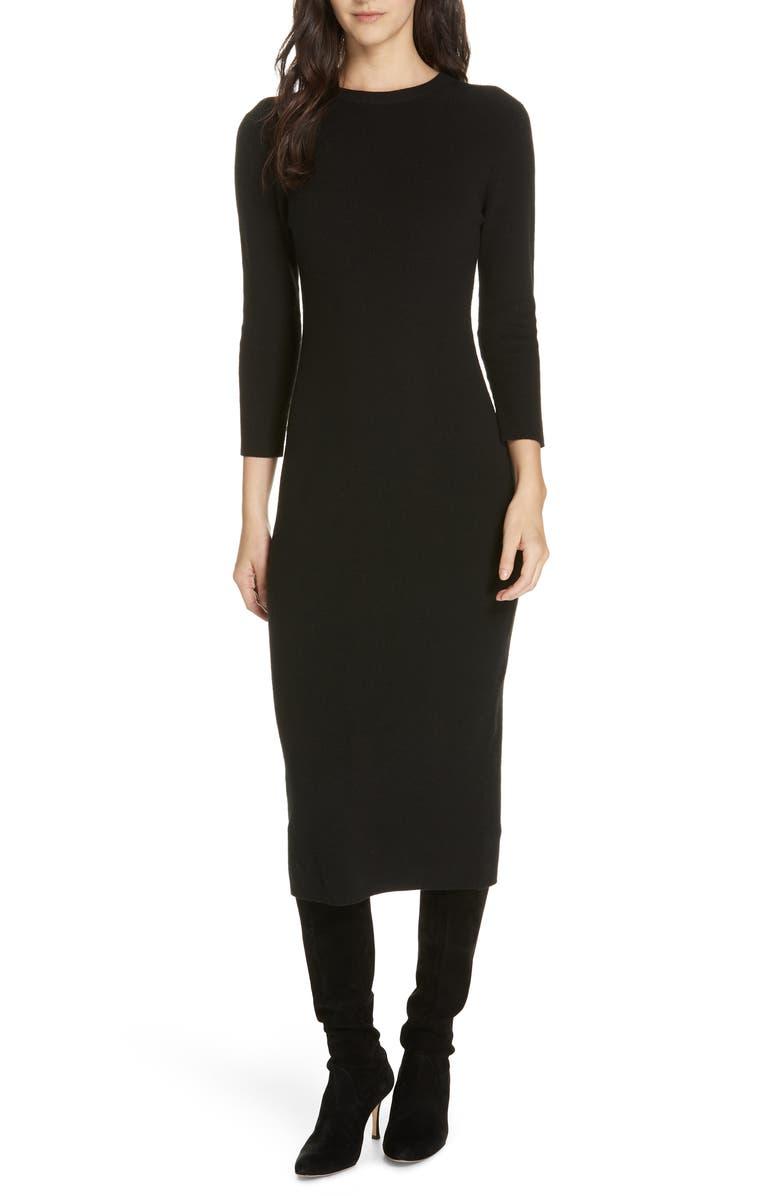 JENNI KAYNE Midi Sweater Dress, Main, color, 001