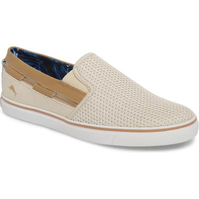 Tommy Bahama Exodus Mesh Slip-On Sneaker- Beige