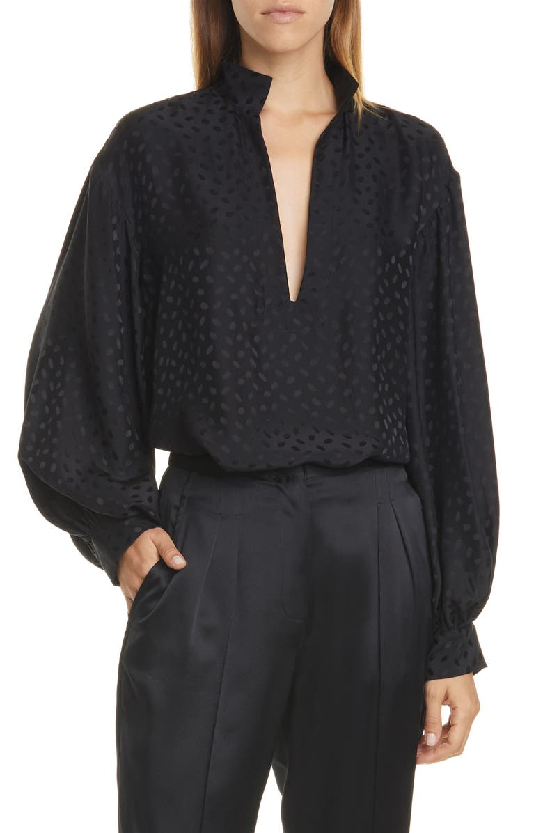 Joey Silk Jacquard Top by Nili Lotan