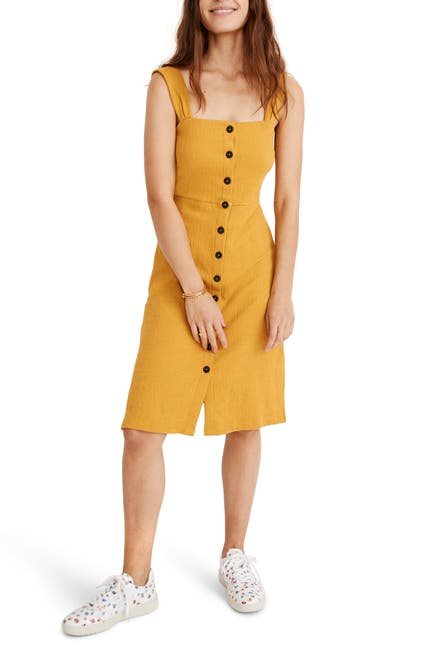 Image of Madewell Texture & Thread Button Front Dress