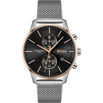 Boss Associate Chronograph Mesh Strap Watch, 4m