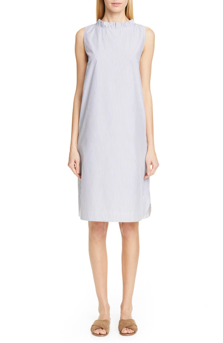 LAFAYETTE 148 NEW YORK Yvette Stripe Convertible Shift Dress, Main, color, 400