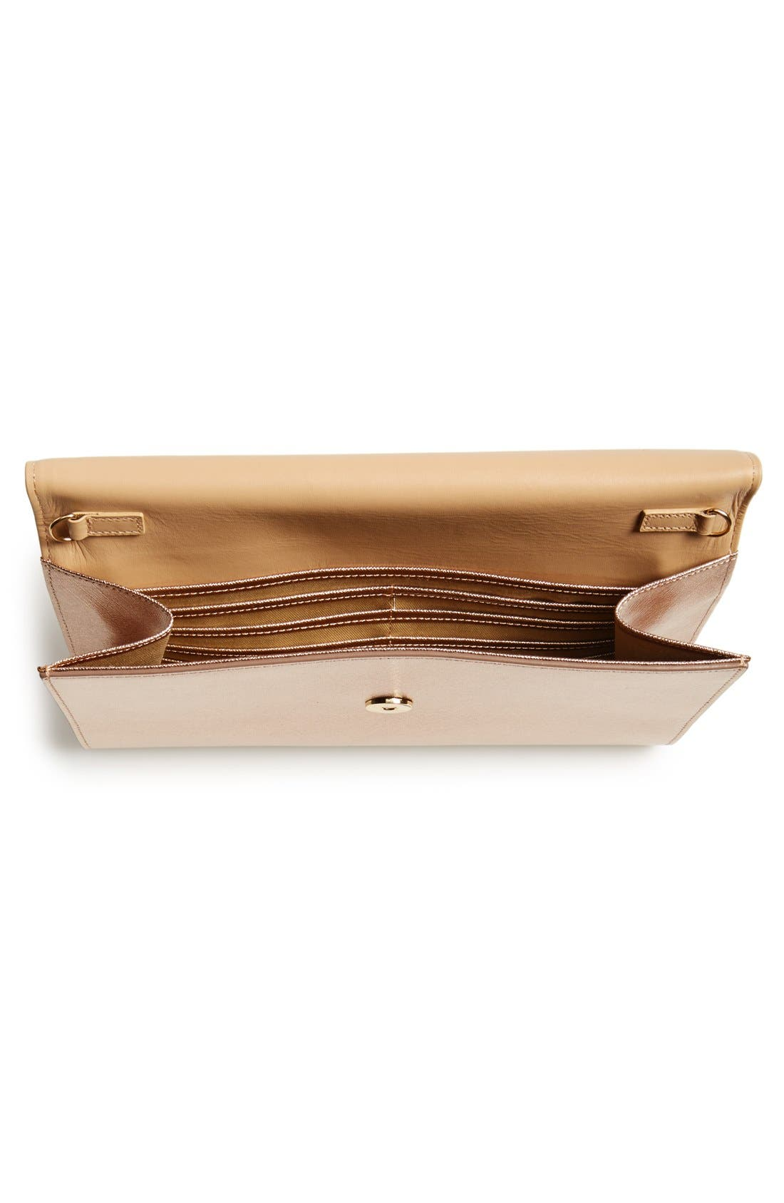 ,                             Saffiano Leather Day Clutch,                             Alternate thumbnail 12, color,                             220
