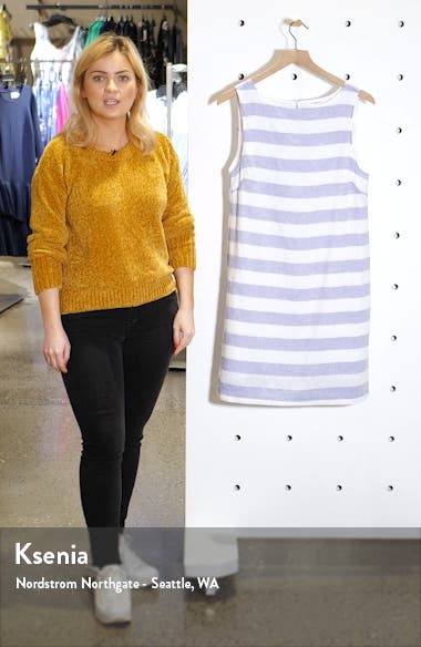 Alina Stripe Linen & Cotton Shift Dress, sales video thumbnail