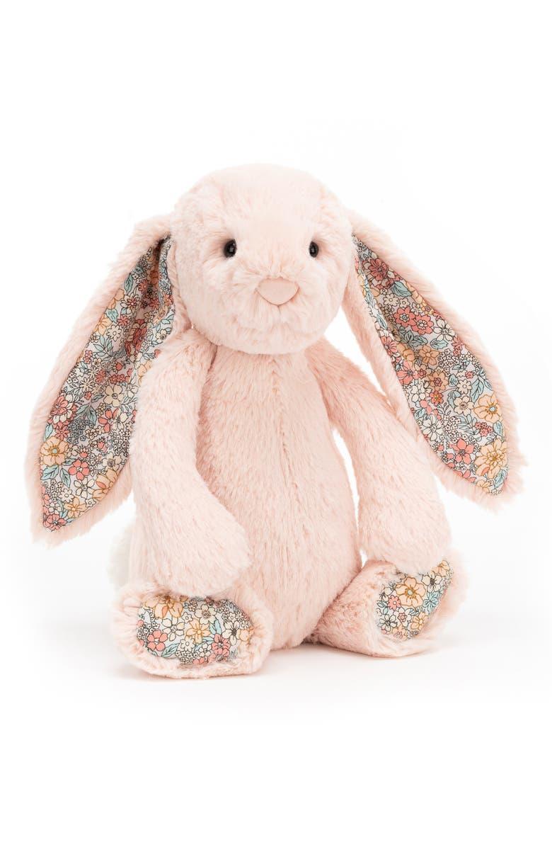 JELLYCAT Medium Blossom Blush Bunny Stuffed Animal, Main, color, PINK